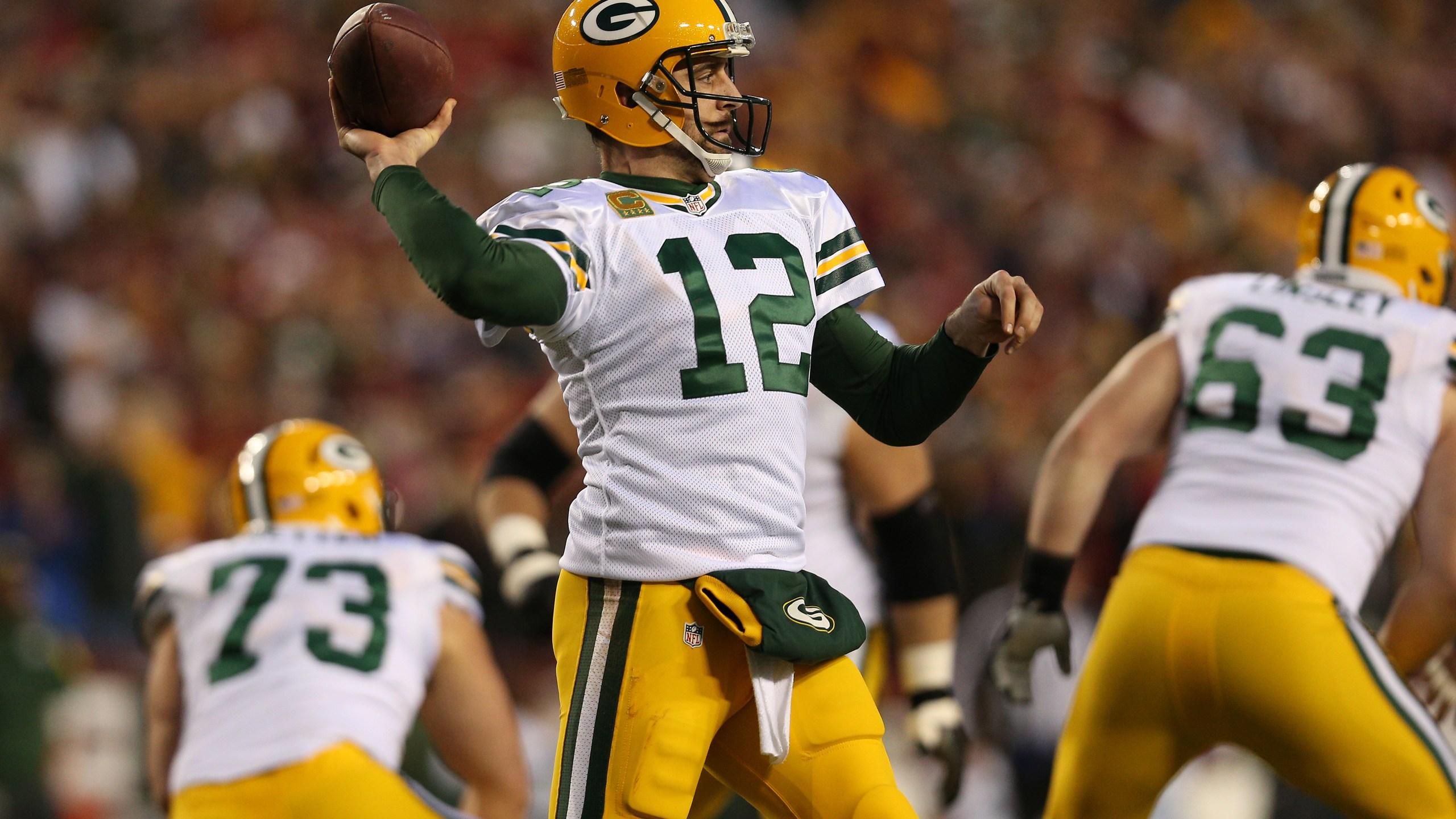 Packers Aaron Rodgers vs. Washington