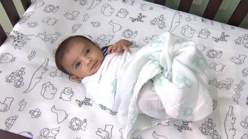 Swaddling babies tied to heightened risk of SIDS_57224268-159532