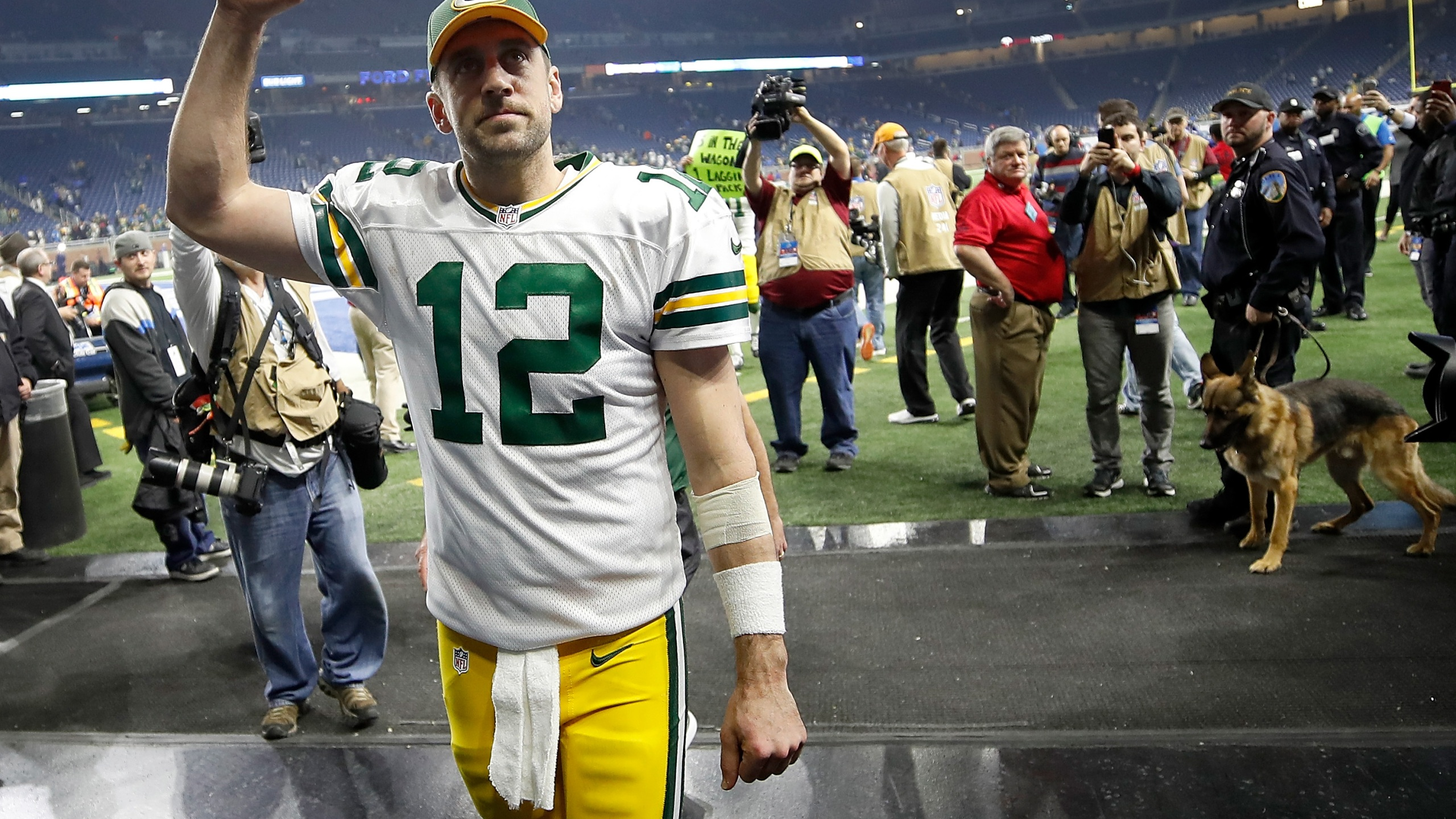 Aaron Rodgers at Detroit