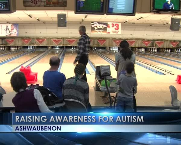 Autism society bowling event