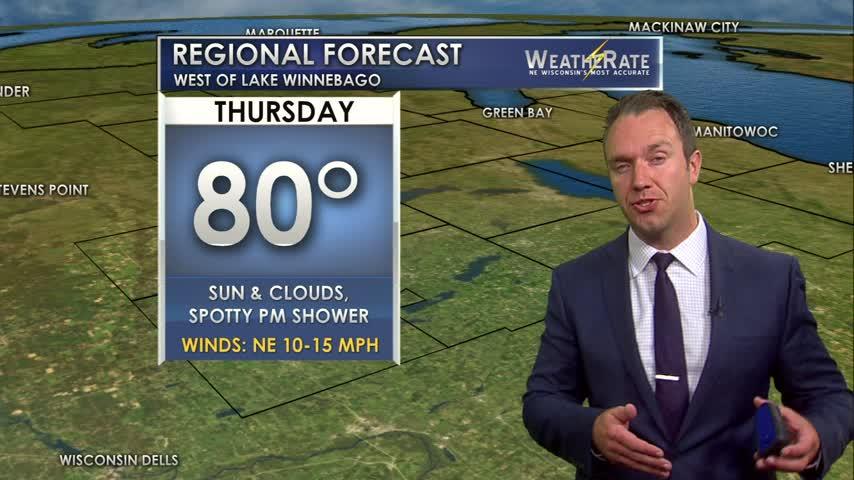 Regional Forecast Central WI 7-27-17