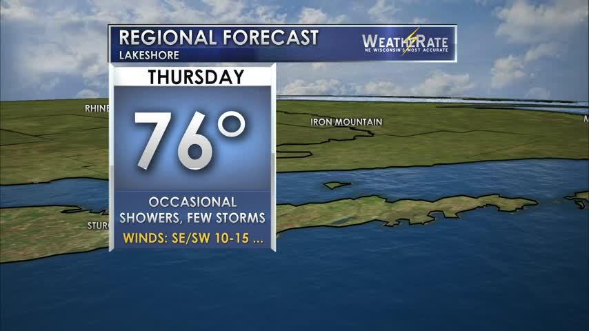Regional Forecast: Lakeshore 8/17/2017