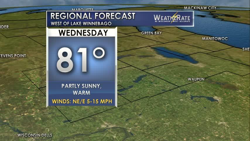 Regional Forecast Central WI 8-16