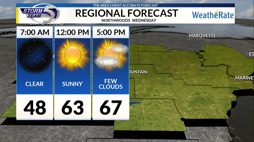 Regional Forecast: Northwoods 10/18/2017