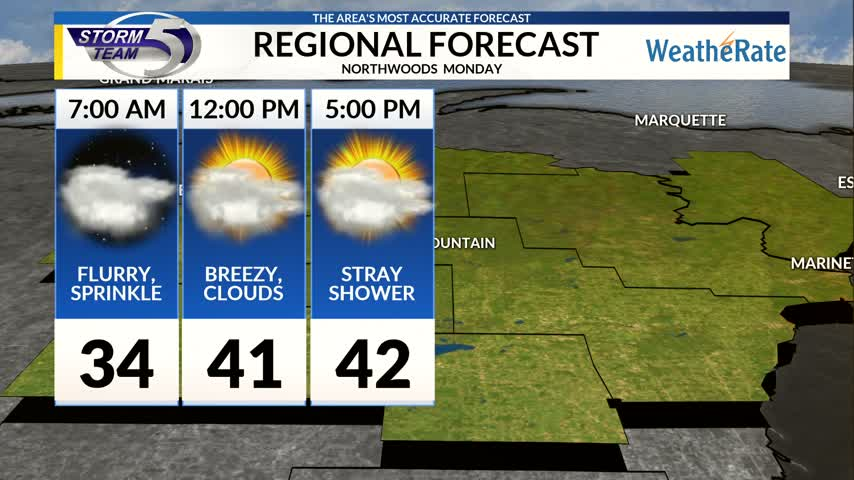 Regional Forecast Northwoods 10-30