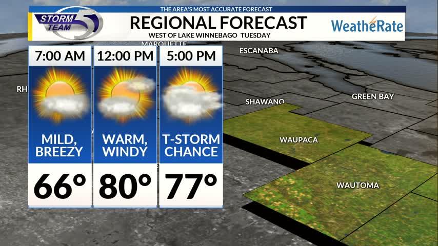 Regional Forecast Central WI 10-3