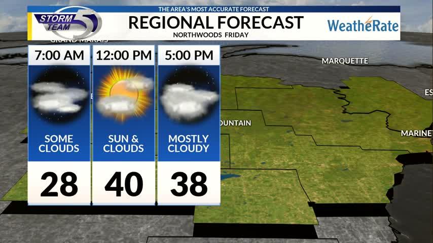 Regional Forecast: Northwoods 12/1/2017