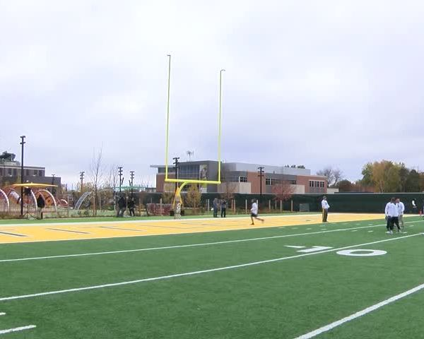 Armed Forces play each other in flag football 11/4/17