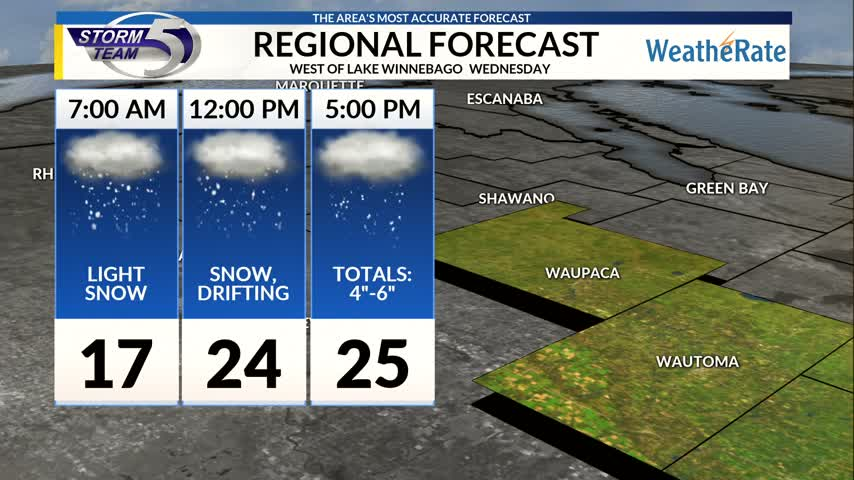 Regional Forecast: Central WI 12/13/2017