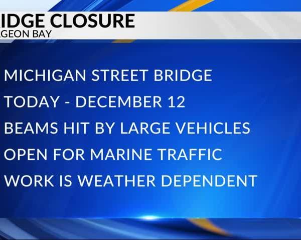 Michigan Street bridge to close