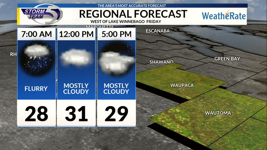 Regional Forecast Central WI 12-22