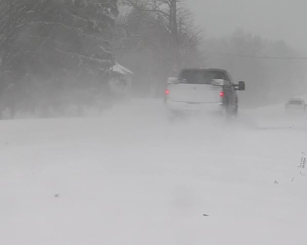 Snow Packed roads on the Lakeshore