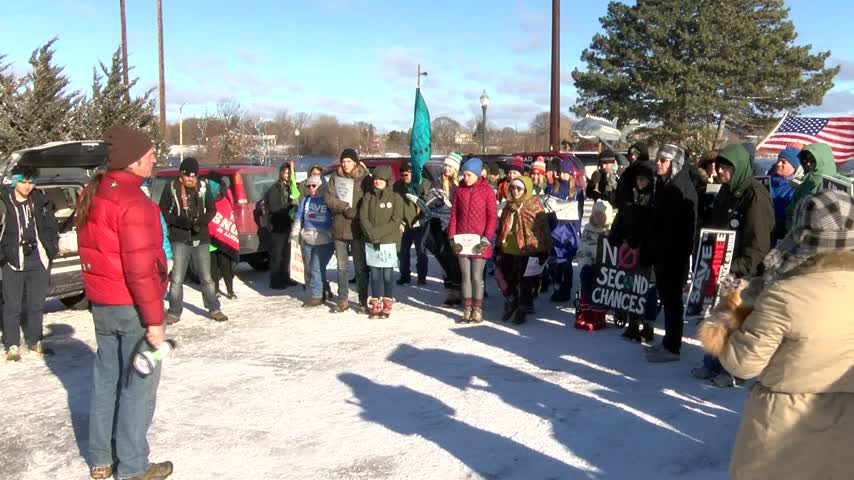 Grassroots groups gather to protest Back Forty Mine project