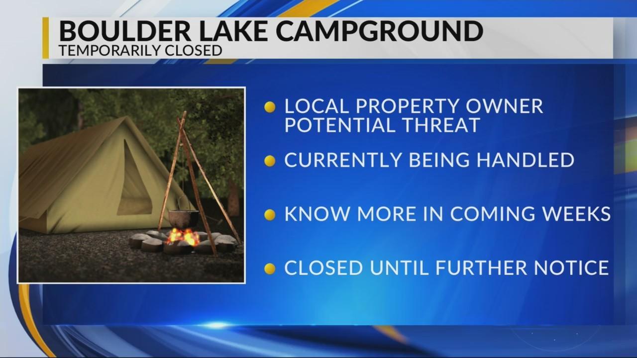 Boulder Campground temporarily closing