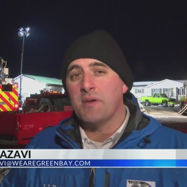 Crews battle overnight Mishicot fire 2