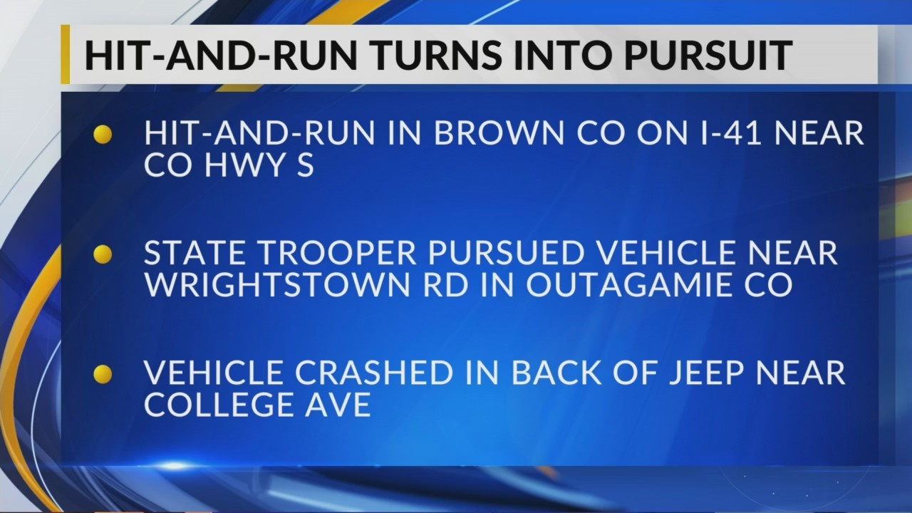 Hit and run turns into pursuit