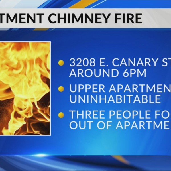 Apartment chimney fire