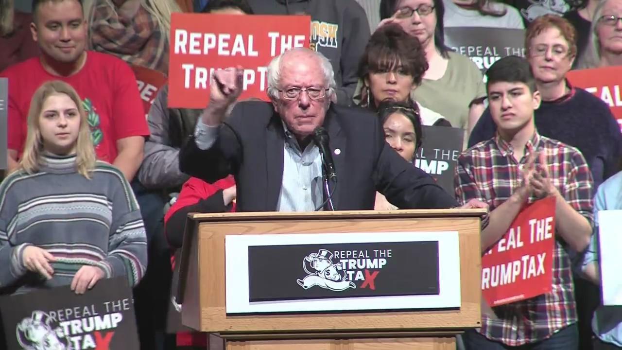 Bernie Sanders rally at UW-Green Bay