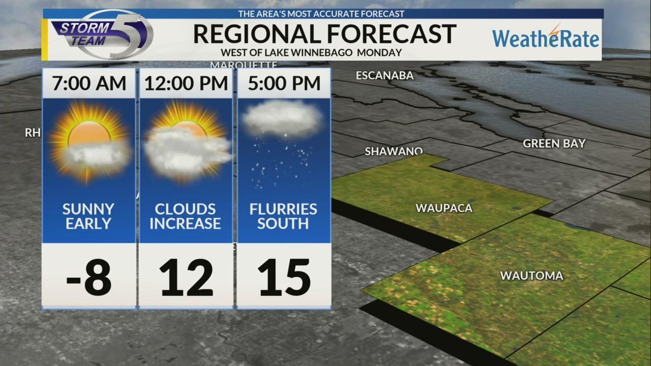 Regional Forecast Central WI 2-5