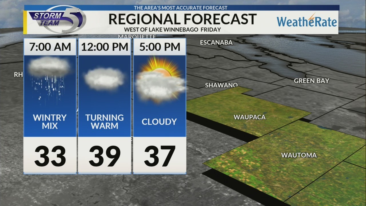 Regional Forecast: Central WI 2/23
