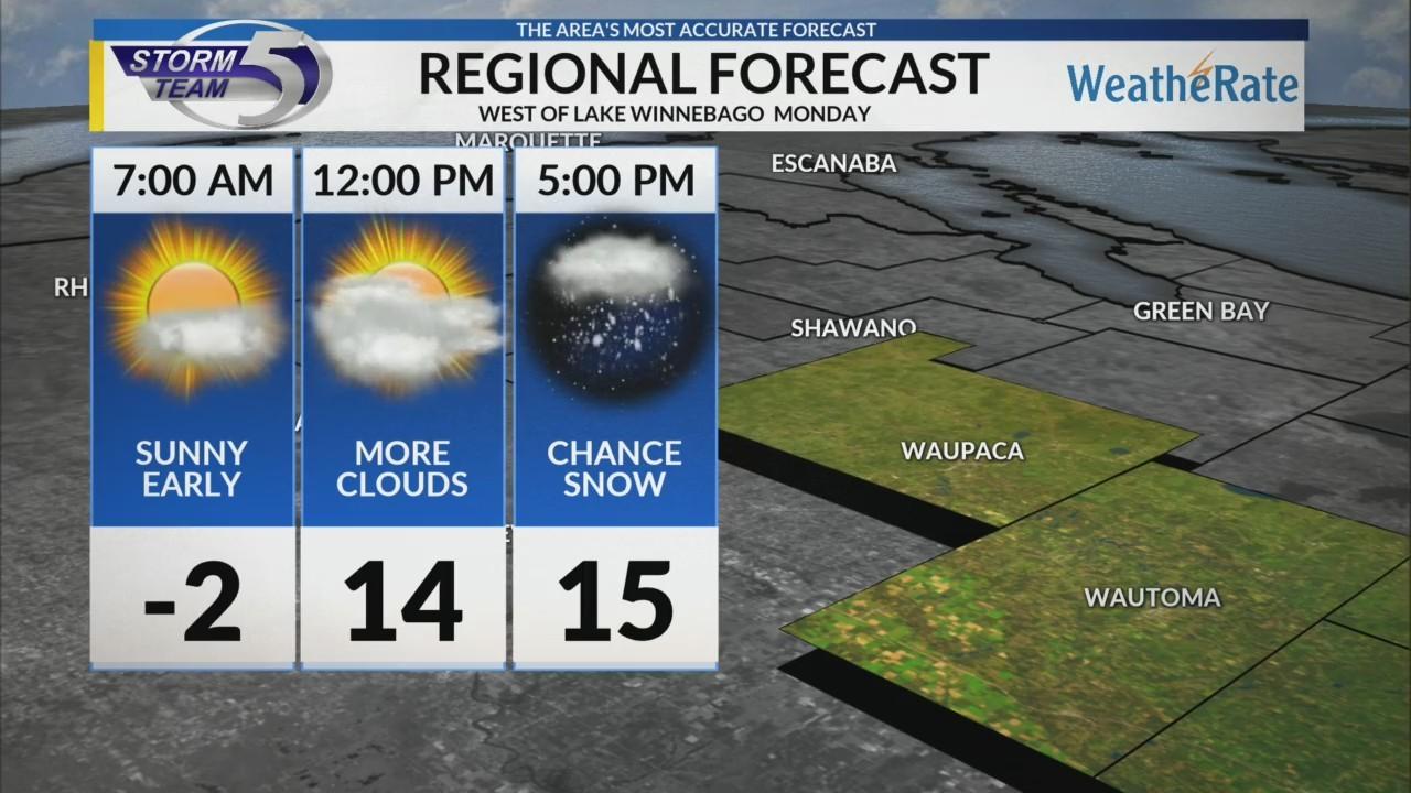 Regional Forecast: Central WI 2/5