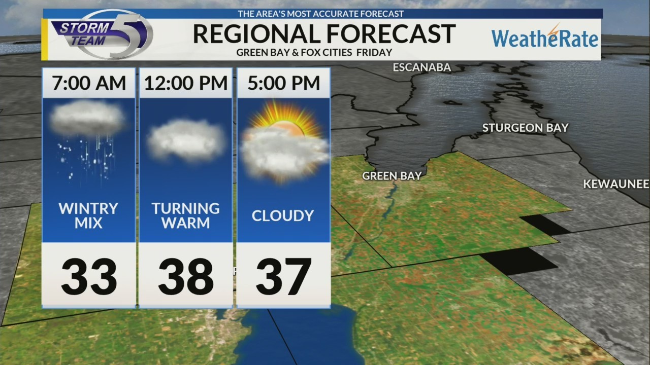 Regional Forecast: Green Bay and the Fox Cities 2/23