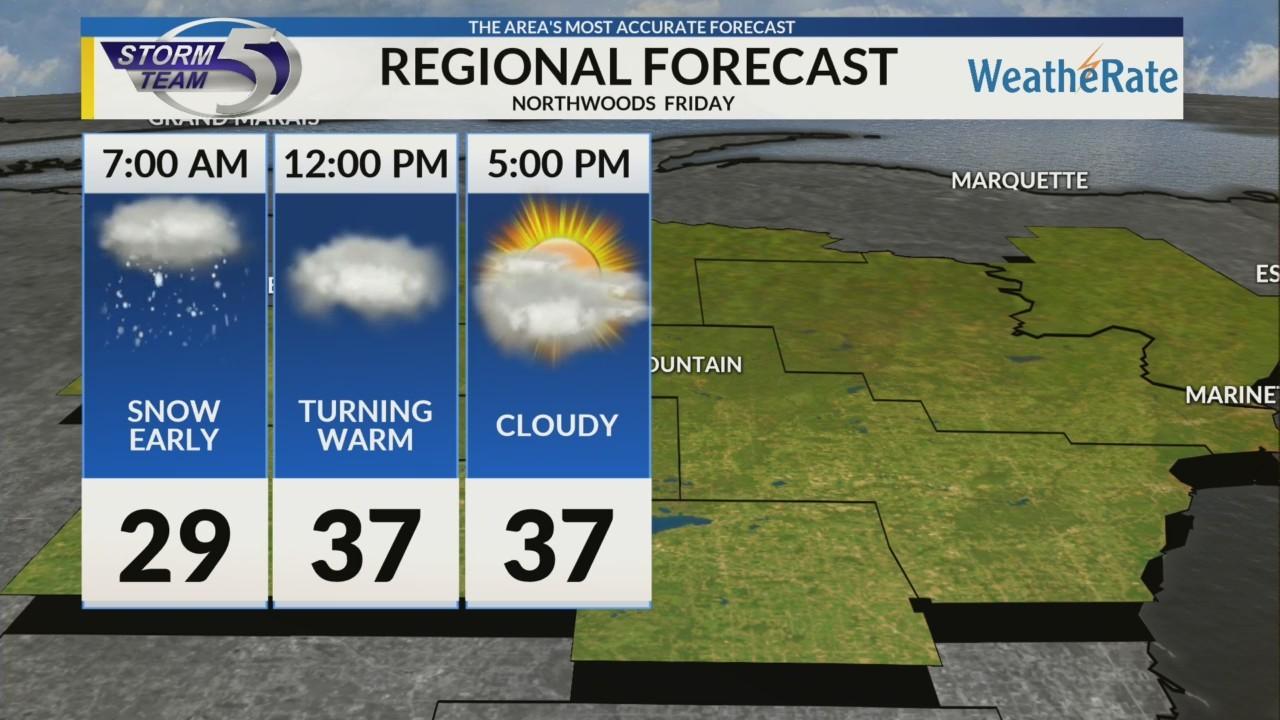 Regional Forecast: Northwoods 2/23