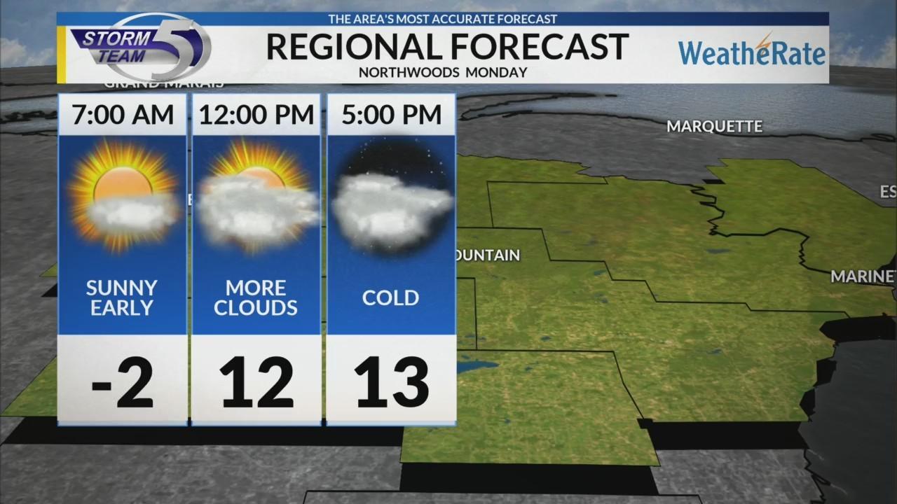 Regional Forecast: Northwoods 2/5