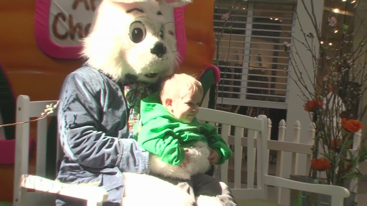 Caring Easter Bunny visits Bay Park Square Mall