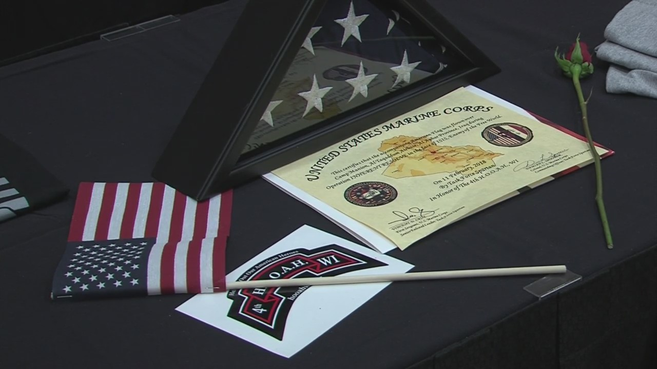 Community members gather to make the lives of local Veterans a little easier.