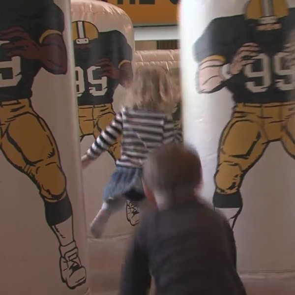 Lambeau Field was the place to be as kids filled up the atrium to participate in the play 60 event