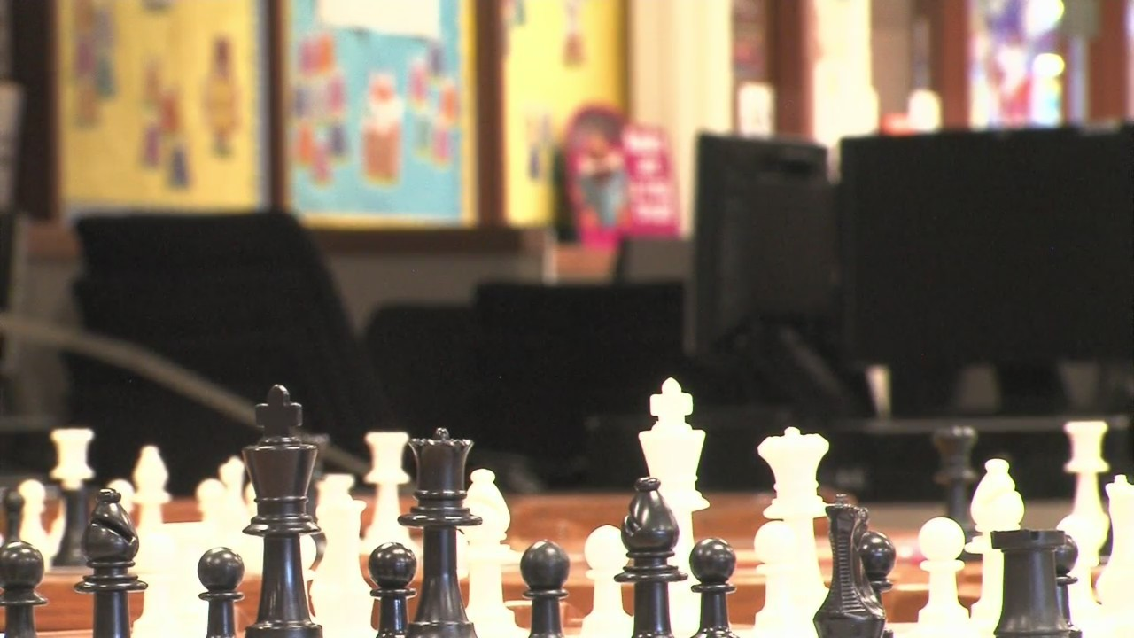 Students show off their chess skills to compete for the trophy