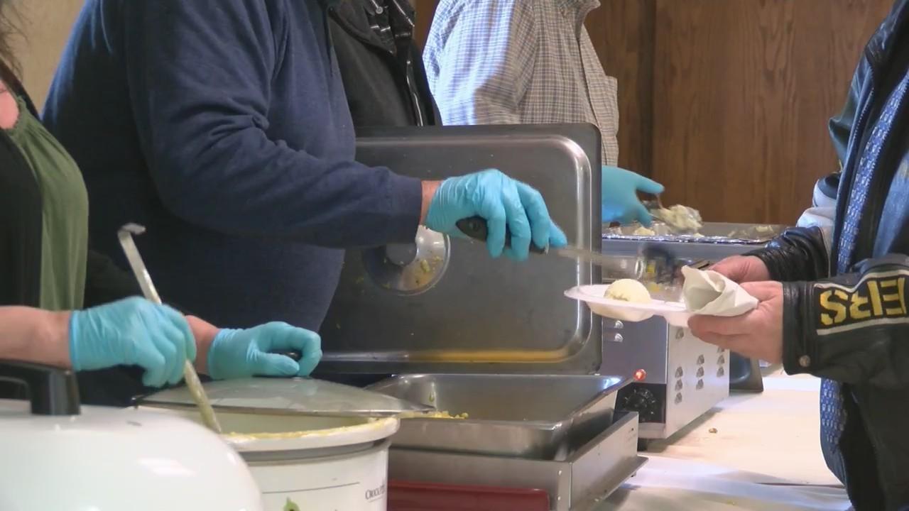 300 volunteers help prepare an Easter dinner in the Fox Valley.
