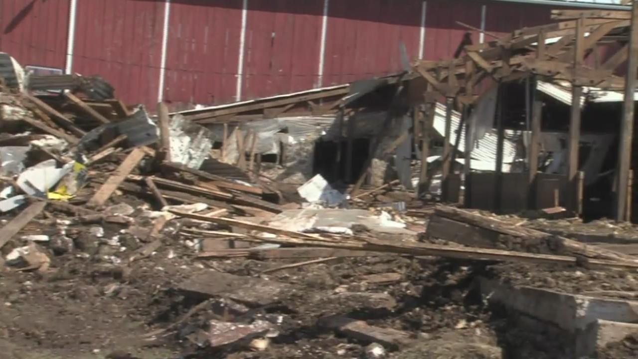 Farm storm damage