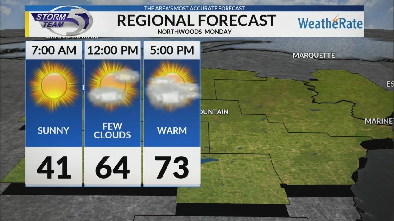 Regional Forecast: Northwoods 4/30