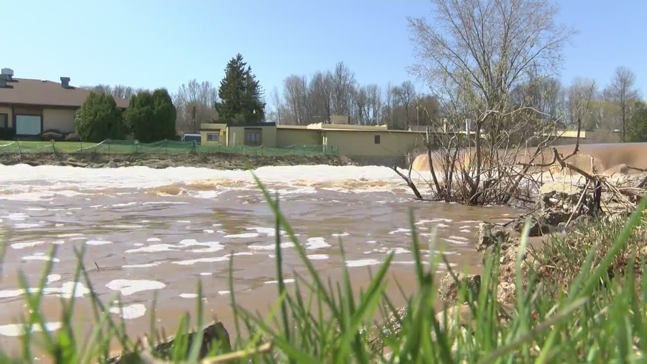 All eyes are on the West Twin River as flood waters recede