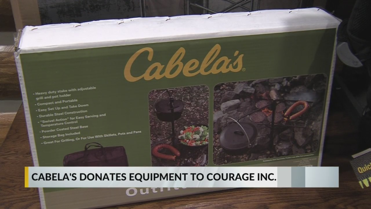 Cabela's Donates $4,000 worth of supplies