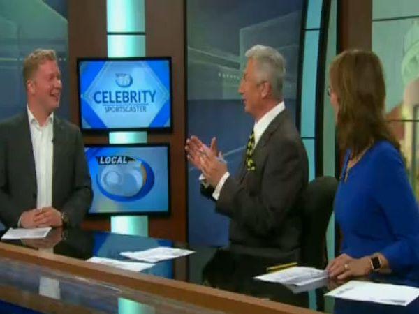 Manitowoc Mayor Justin Nickels on Celebrity Sportscaster
