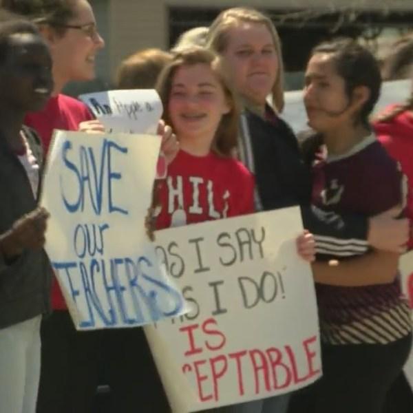 Omro School Protest