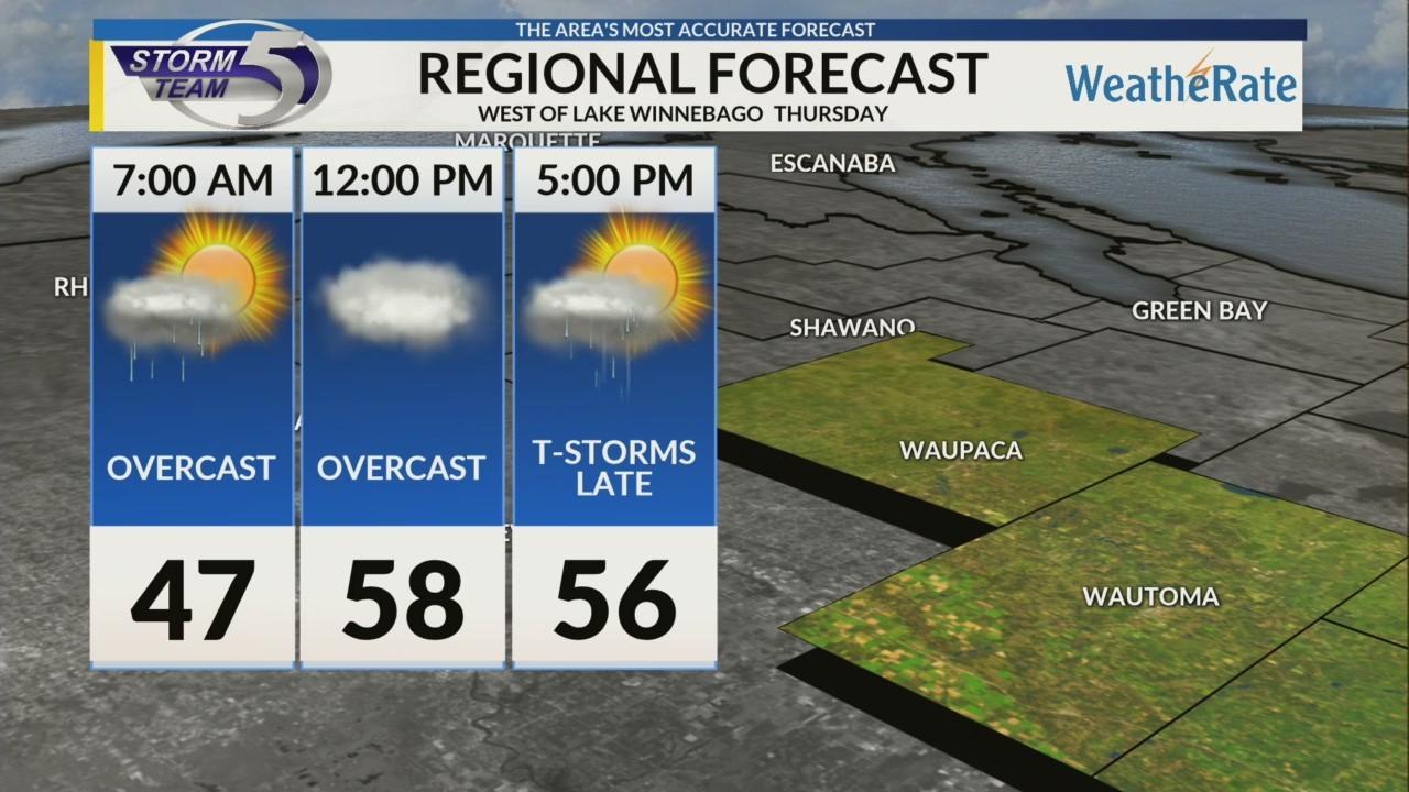 Regional Forecast: Central WI 5/3/2018