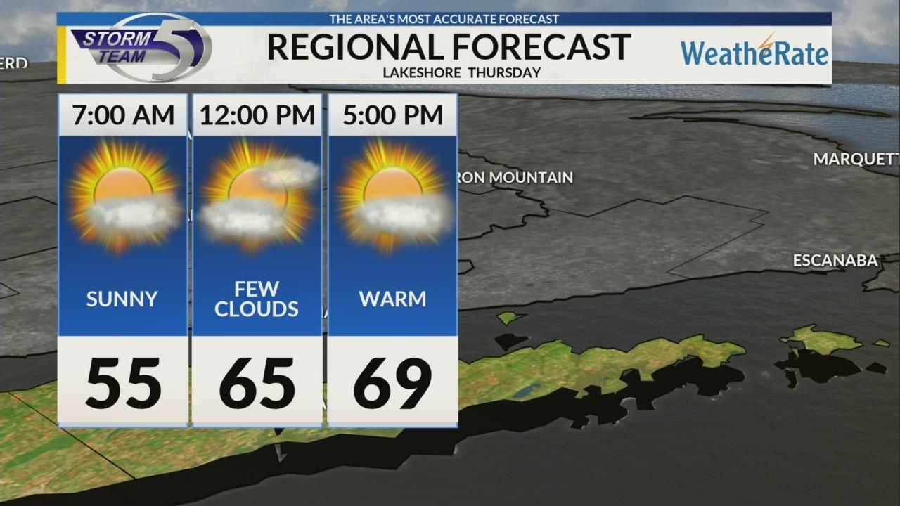 Regional Forecast: Lakeshore 5/23