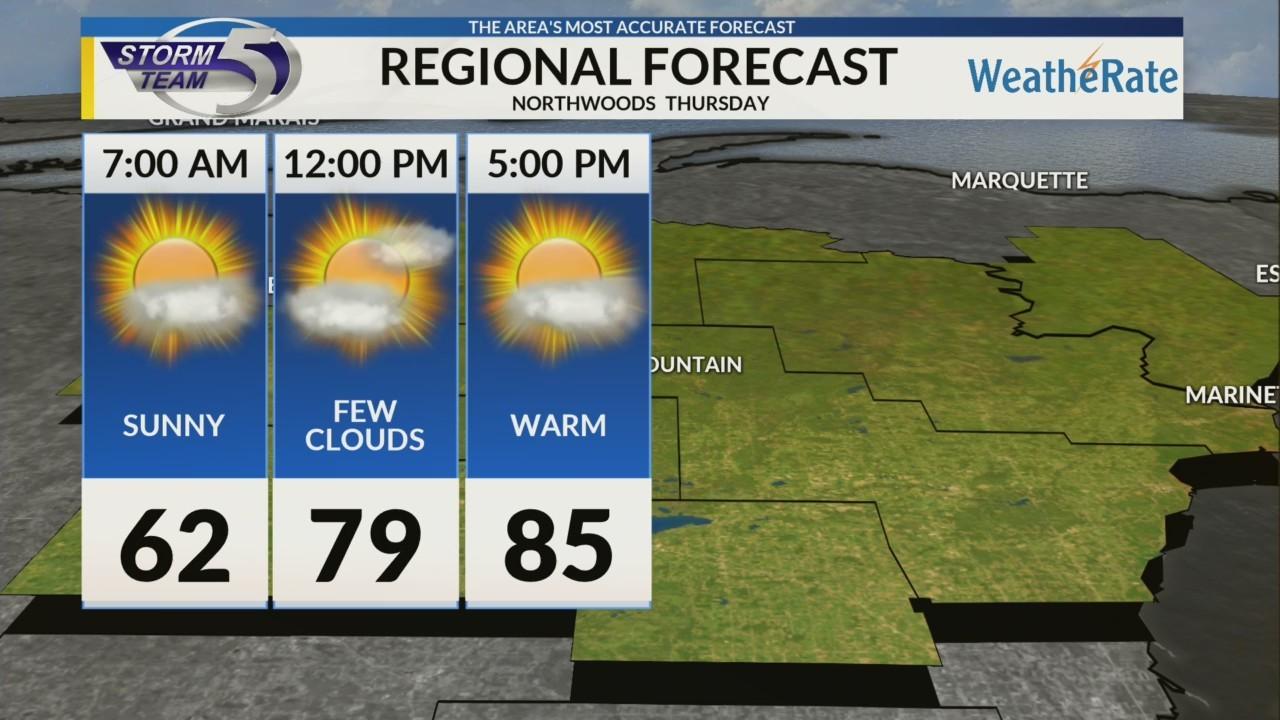 Regional Forecast: Northwoods 5/23