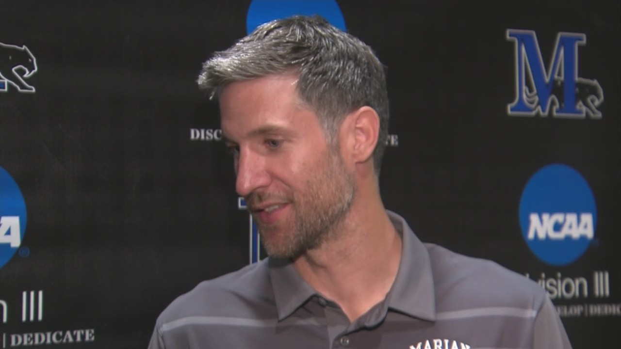 Marian University introduces Drake Diener as men's basketball coach