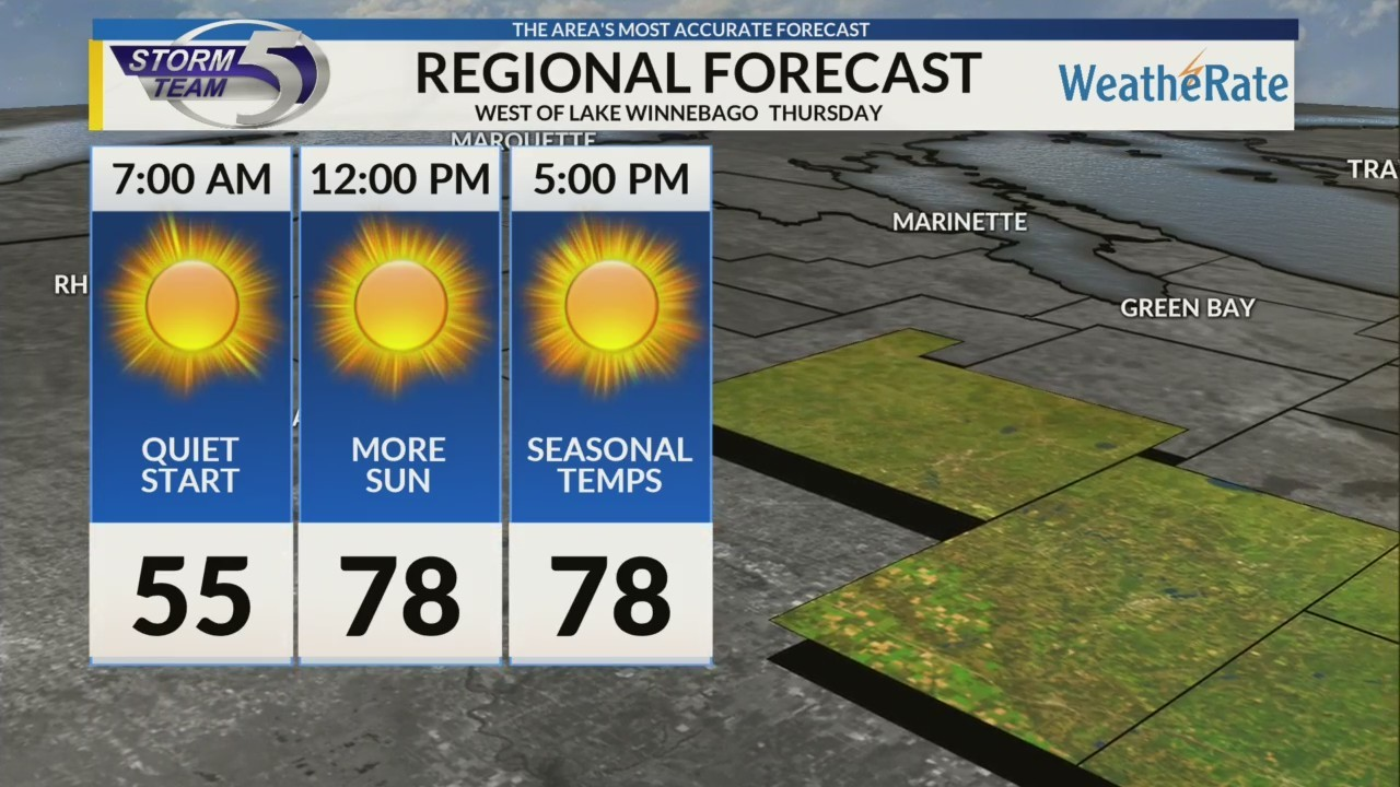 Regional Forecast: Central WI 8/23/2018