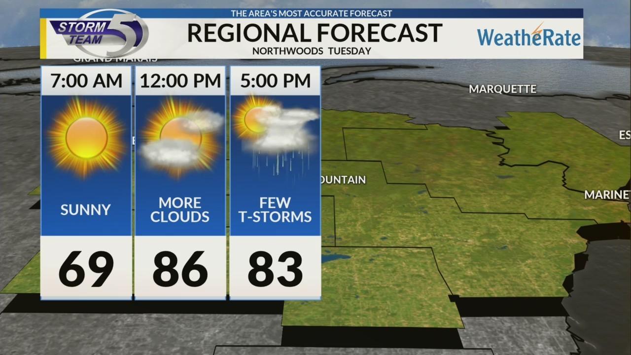 Regional Forecast: Northwoods 8/13