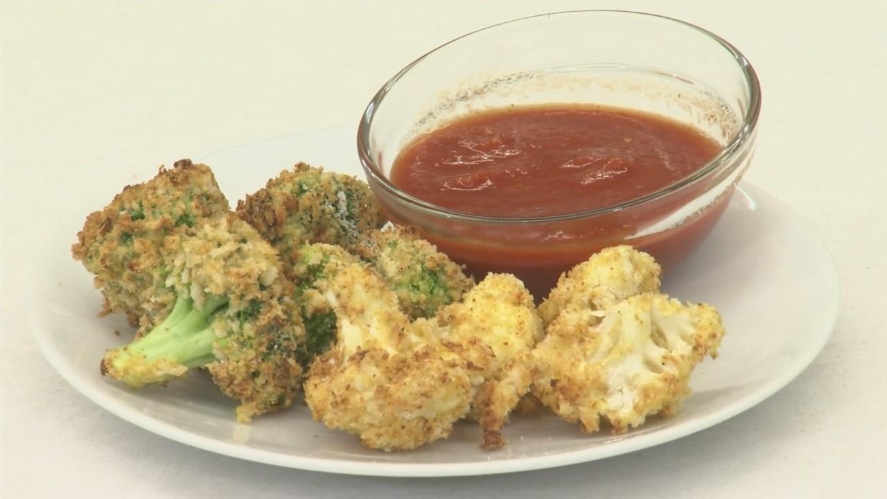 Air Fried Cauliflower and Broccoli bites