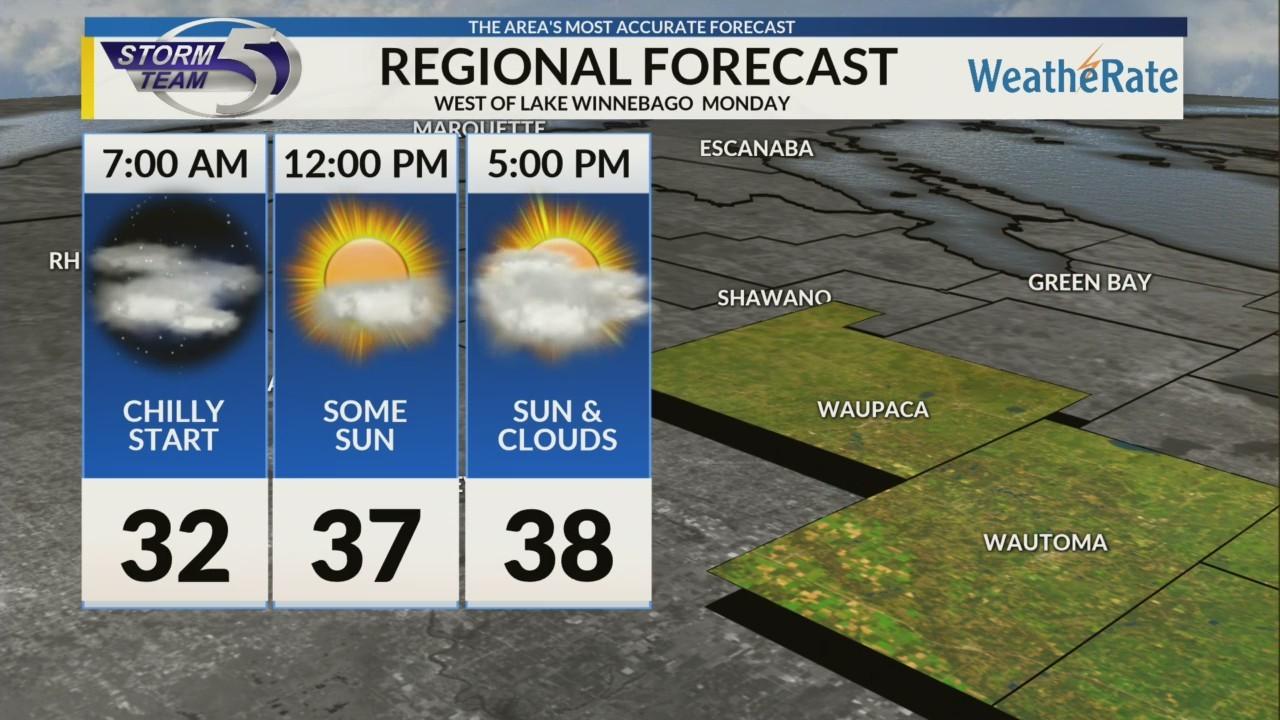 Regional Forecast: Areas West of Lake Winnebago 10/15