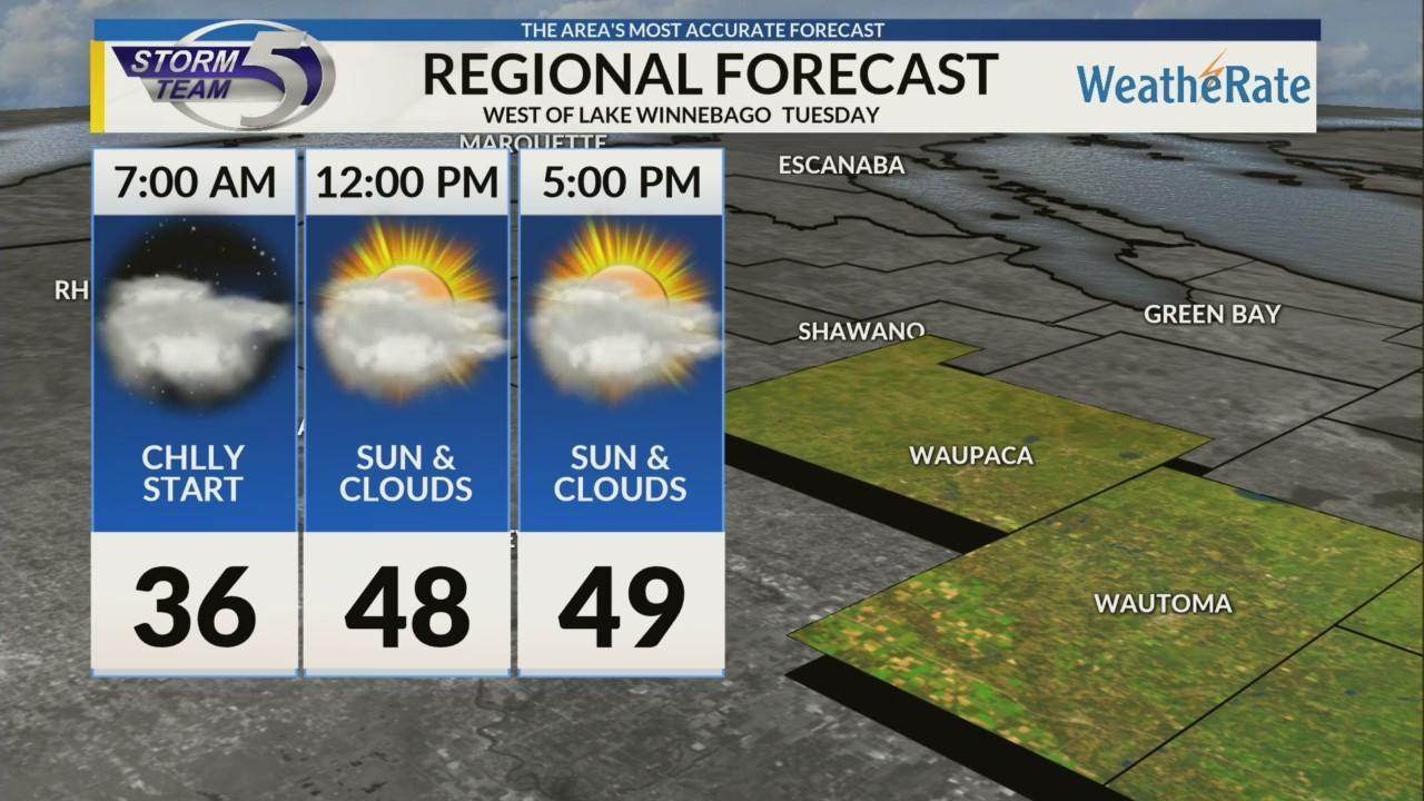 Regional Forecast: Areas West of Lake Winnebago 10/16