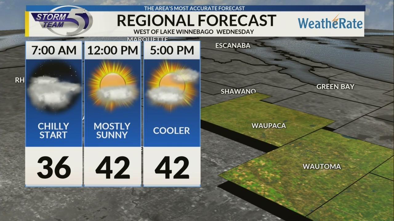 Regional Forecast: Areas West of Lake Winnebago 10/17