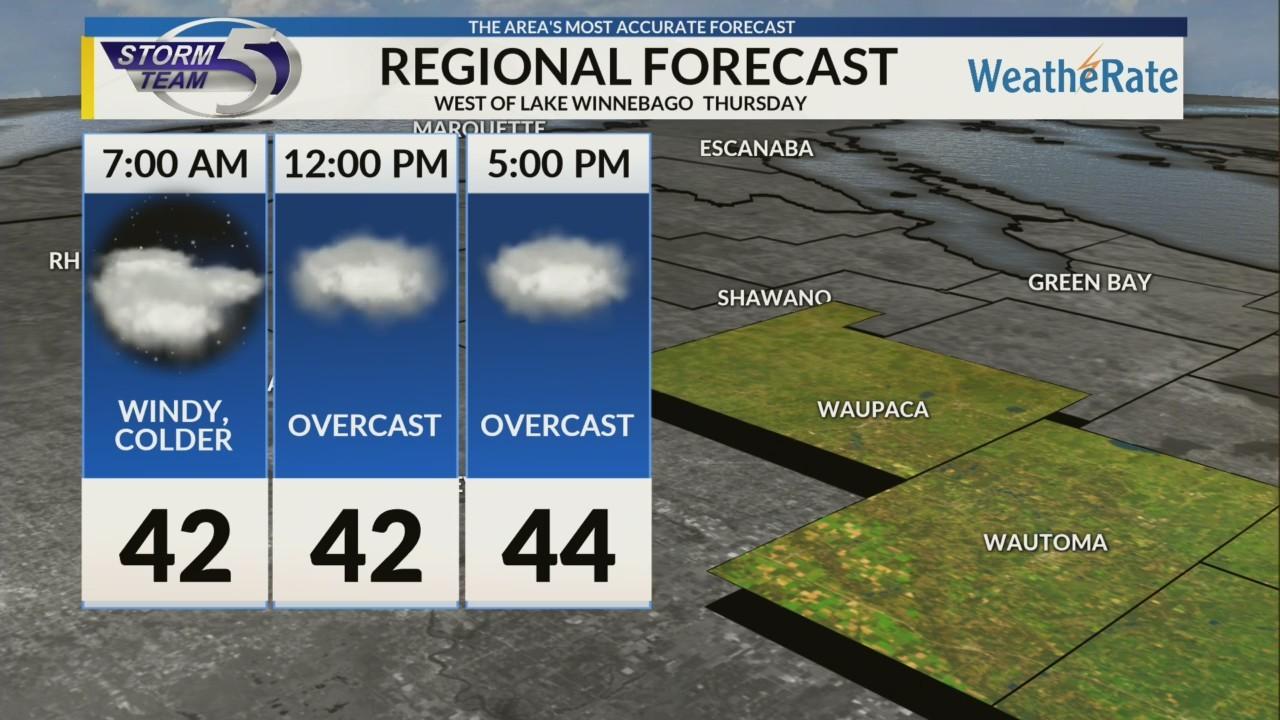 Regional Forecast: Central WI 10/11/2018